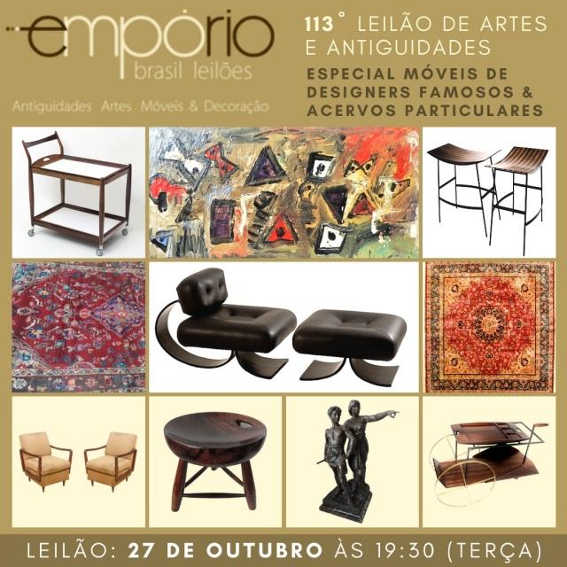 113º Leilão de Artes & Antiguidades - Especial Móveis de Designers Famosos & Acervos Particulares!!!