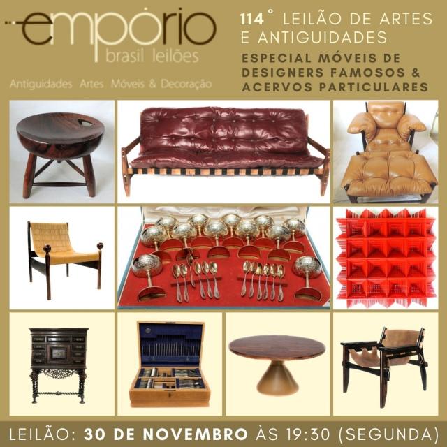 114º Leilão de Artes & Antiguidades - Especial Móveis de Designers Famosos & Acervos Particulares!!!