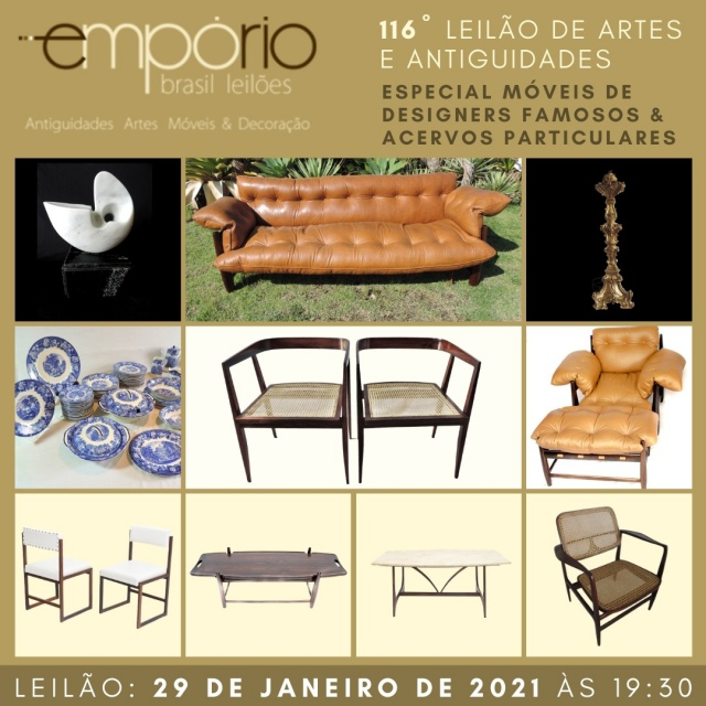 116º Leilão de Artes & Antiguidades - Especial Móveis de Designers Famosos & Acervos Particulares!!!
