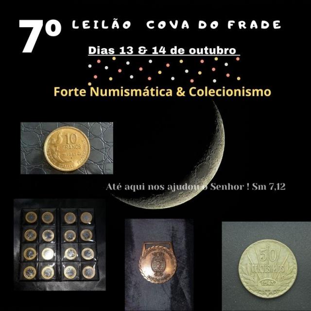 LEILÃO COVA DO FRADE-FORTE NUMISMÁTICA E COLECIONISMO DE OUTUBRO