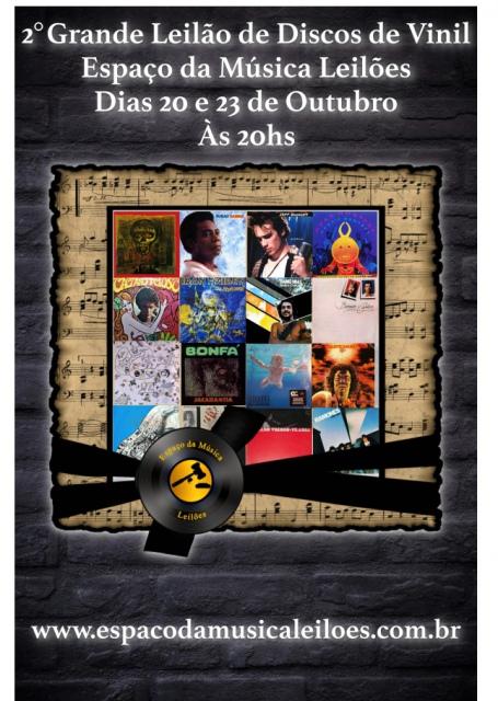 2º Grande Leilão de Discos de Vinil Espaço da Música Leilões