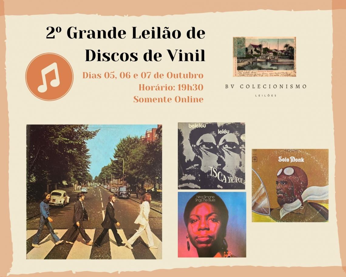 2º GRANDE LEILÃO DE DISCOS DE VINIL