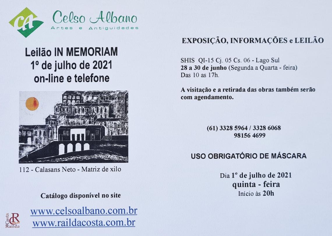LEILÃO DE ARTES E ANTIGUIDADES CELSO ALBANO
