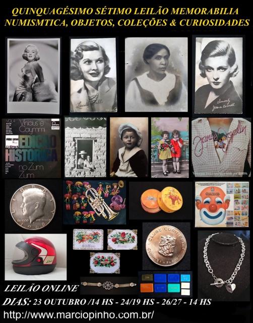 Quinquagésimo-Sétimo Leilão Memorabilia, Numismática, Objetos, Coleções e Curiosidades