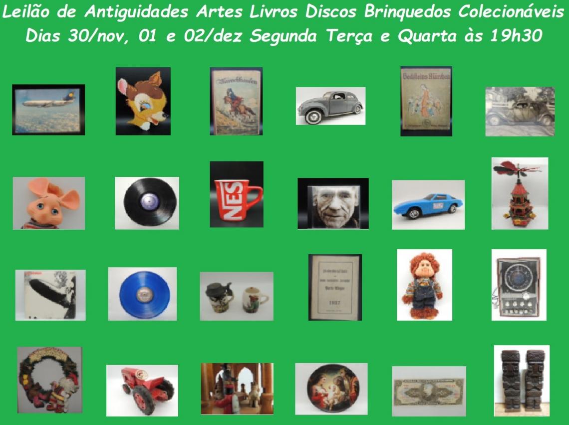 LEILÃO DE NATAL - BRINQUEDOS ARTE ANTIGUIDADES LIVROS DISCOS COLECIONÁVEIS PRESENTES