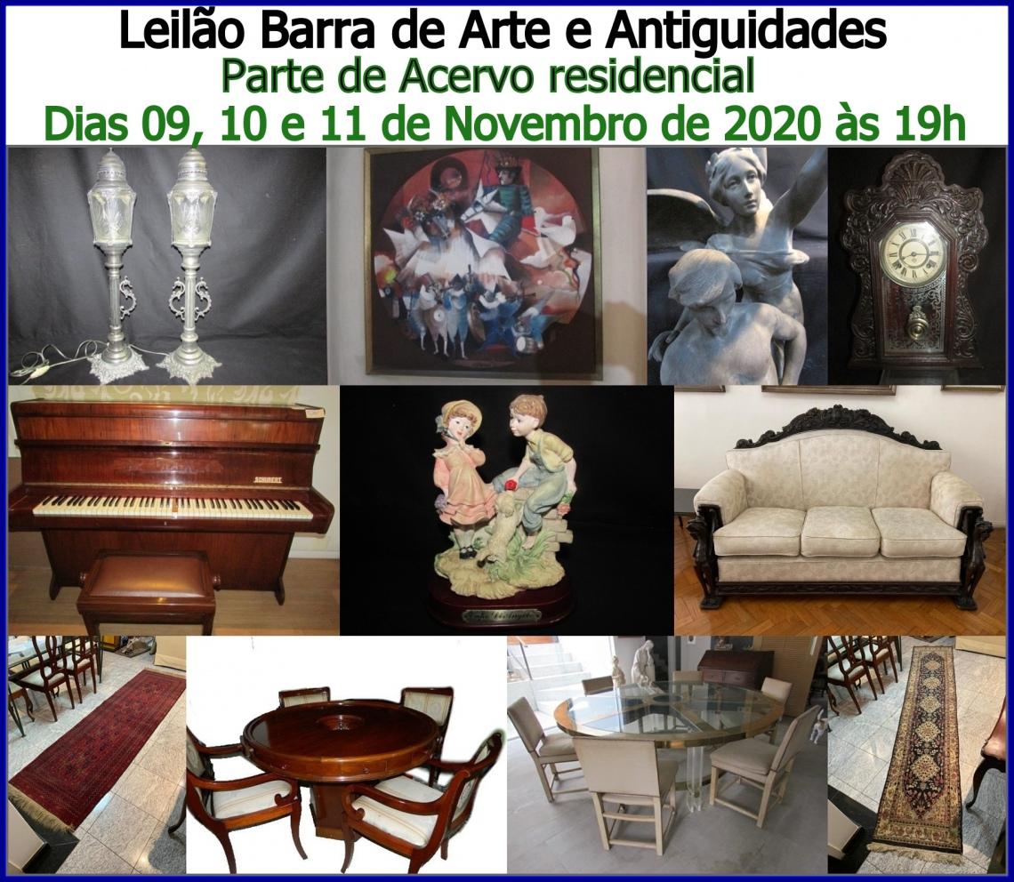 LEILÃO DE ARTE E ANTIGUIDADES  LEILÃO BARRA - PARTE DE ACERVO RESIDENCIAL -