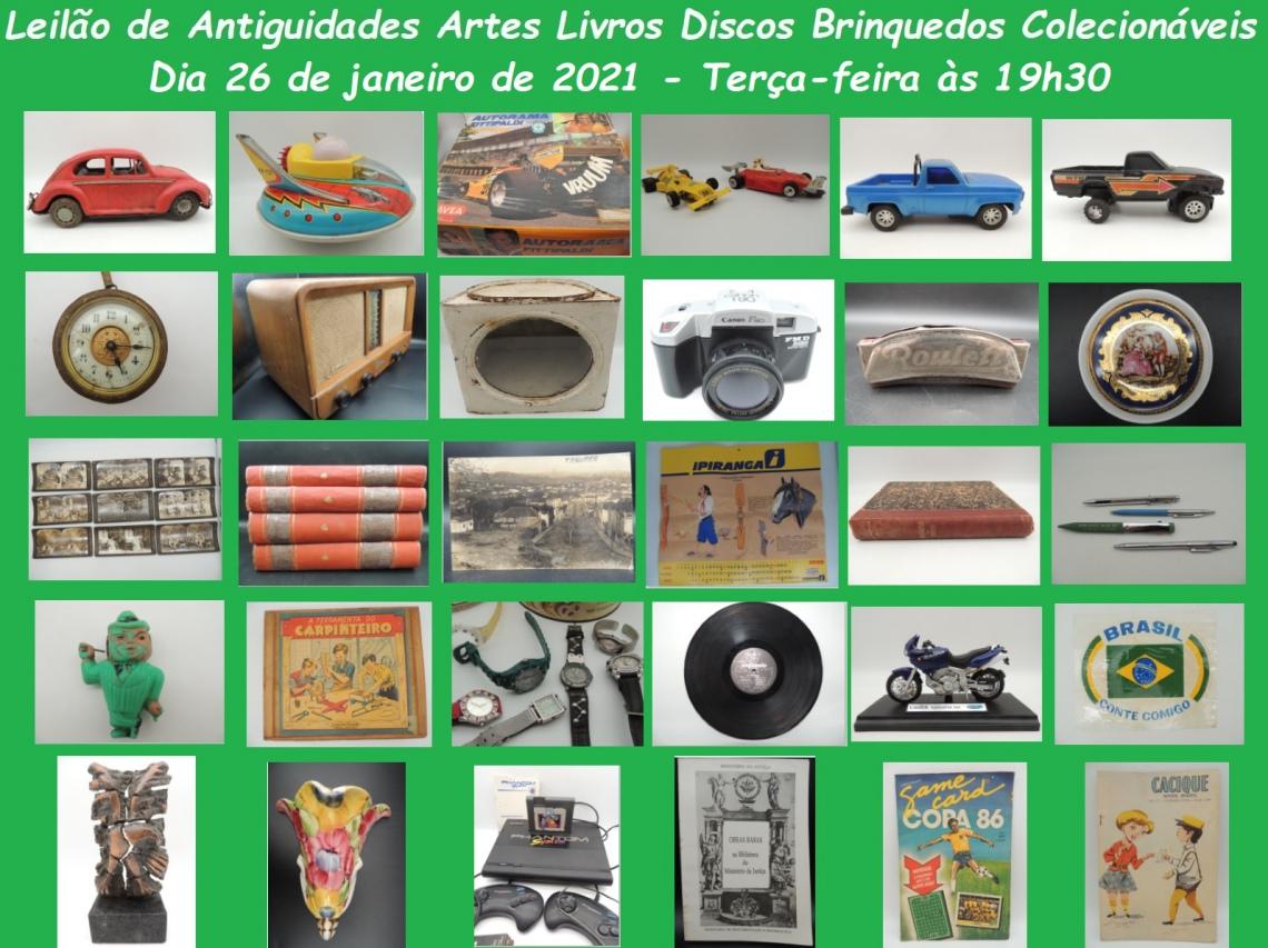 LEILÃO DE VENDA - ARTE ANTIGUIDADES LIVROS BRINQUEDOS COLECIONÁVEIS RELÓGIOS RELÍQUIAS RARIDADES