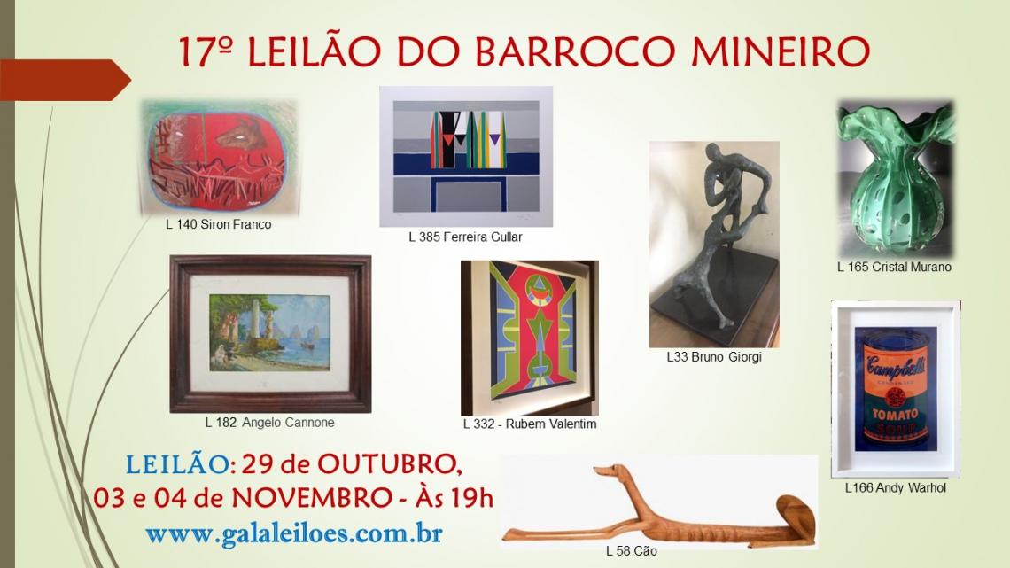 17º LEILÃO DO BARROCO MINEIRO
