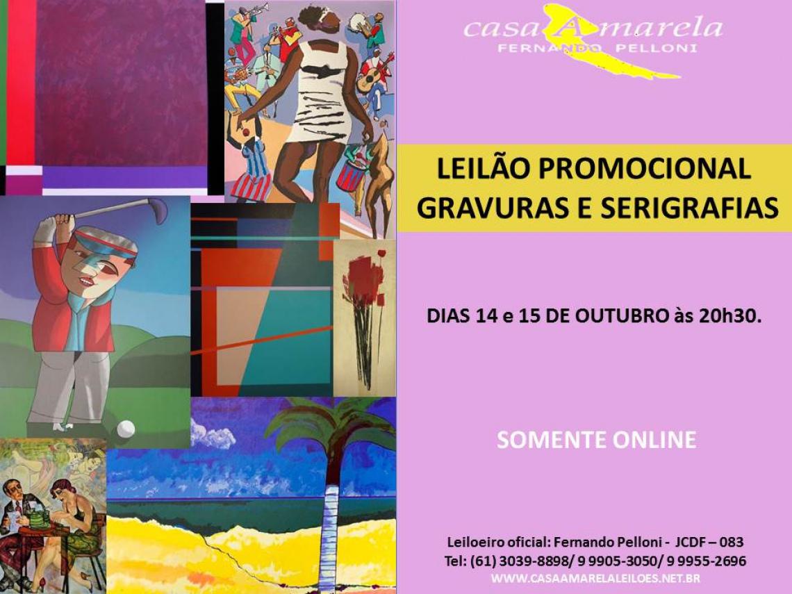 LEILÃO PROMOCIONAL DE GRAVURAS E SERIGRAFIAS