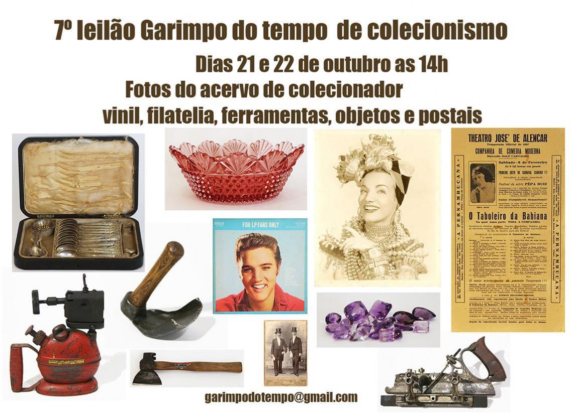 7 º LEILÃO GARIMPO DO TEMPO DE COLECIONISMO