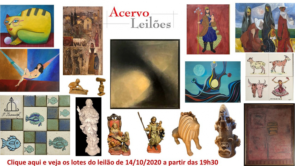 LEILÃO DE ARTE - ACERVO LEILÕES  - 14/10/2020 - 19h30