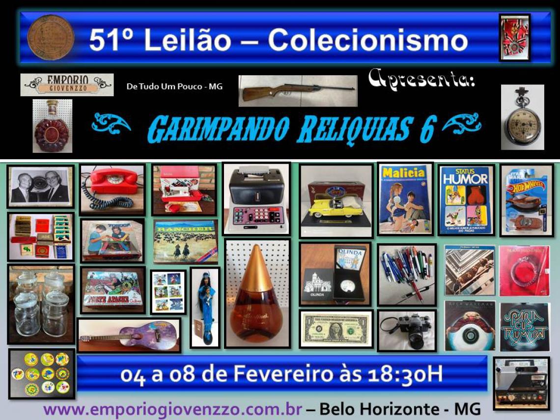 51º LEILÃO DE TUDO UM POUCO - MG - COLECIONISMO