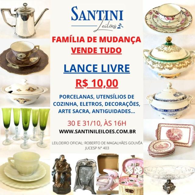 FAMÍLIA DE MUDANÇA VENDE TUDO A LANCE LIVRE! Porcelanas, decorações, antiguidades, tapetes...