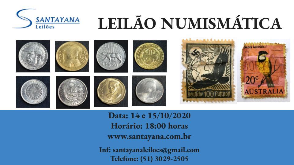 LEILÃO DE NUMISMÁTICA E FILATELIA