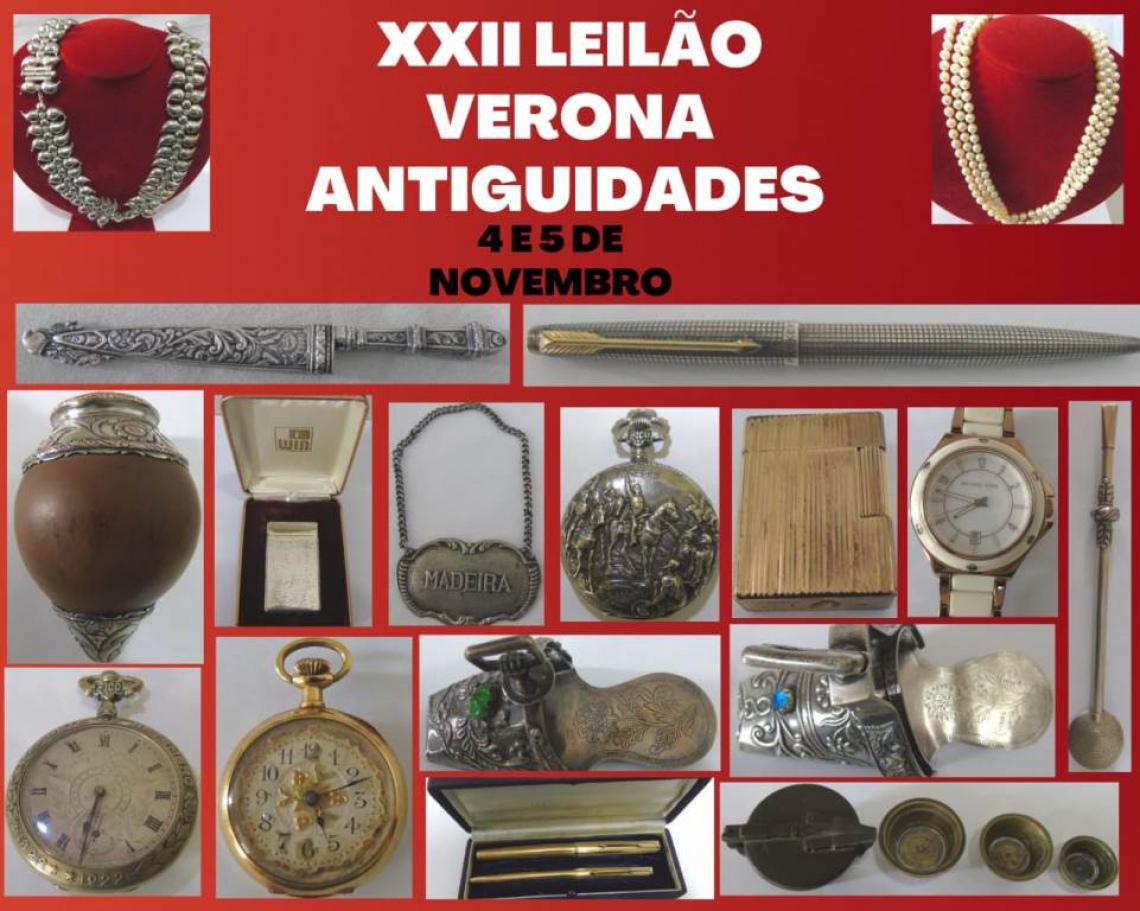 XXII  LEILÃO VERONA - ANTIGUIDADES E COLECIONISMO .