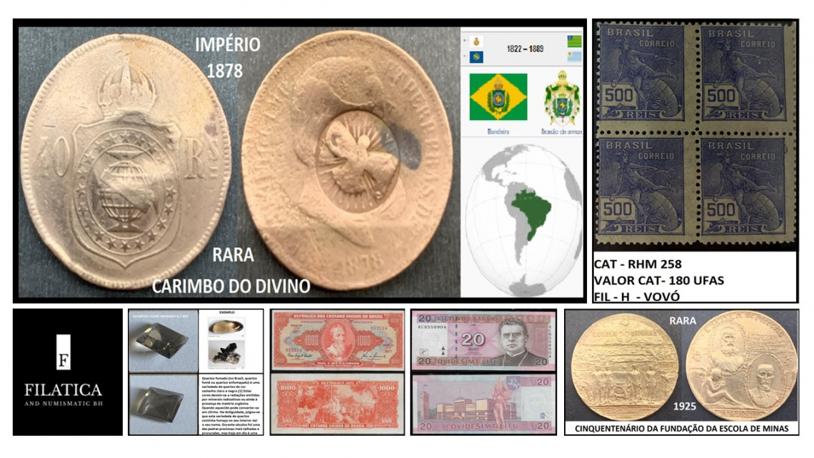83º LEILÃO FILATICA AND NUMISMATIC BH