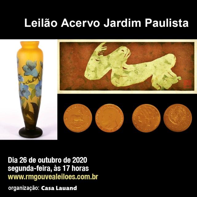 Leilão Acervo Jardim Paulista 26/10/2020 às 17h