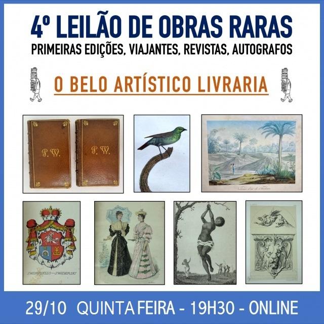 4º Leilão de Livros e Revistas Especiais/Raros de O BELO ARTÍSTICO