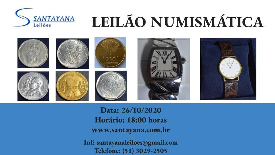LEILÃO DE NUMISMÁTICA, JOIAS E RELÓGIOS FINOS