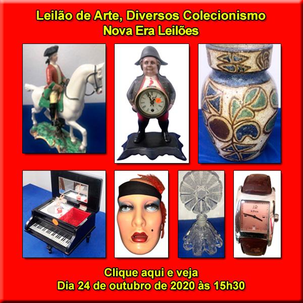LEILÃO DE ARTE, DIVERSOS E COLECIONISMO - Dia 24 de Outubro as 15h30