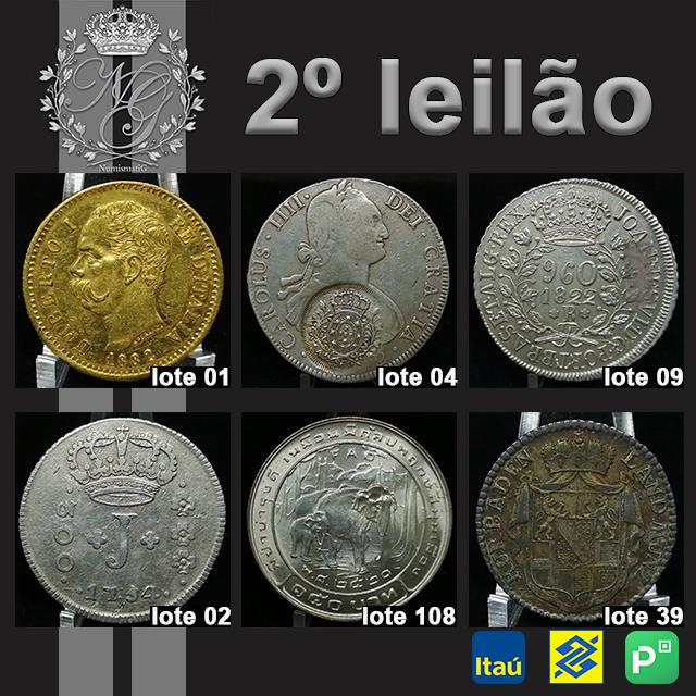 2º LEILÃO DE NUMISMÁTICA - NUMISMATIG LEILÕES