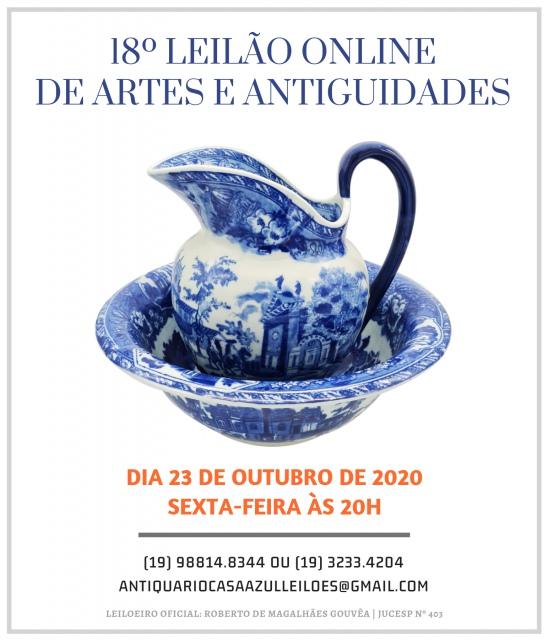 18º LEILÃO DE ARTE E ANTIGUIDADES - 23/10/2020 às 20h