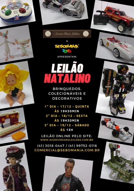 LEILÃO NATALINO SEBOMANIA TOYS: BRINQUEDOS RAROS, ANTIGOS, COLECIONÁVEIS E DECORATIVOS.