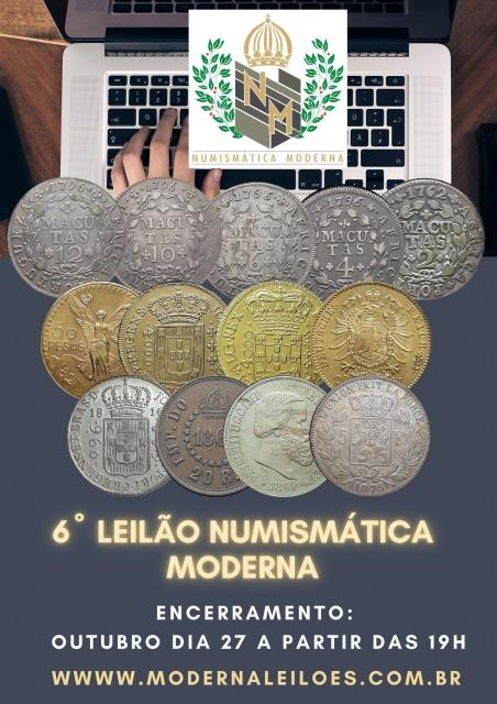 6º LEILÃO NUMISMÁTICA MODERNA