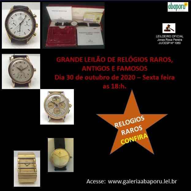 GRANDE LEILÃO DE RELÓGIOS RAROS, ANTIGOS E FAMOSOS