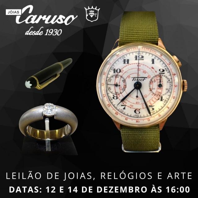 19º LEILÃO DE JOIAS RELÓGIOS E OBJETOS DE ARTE E DECORAÇÃO-JOIAS CARUSO