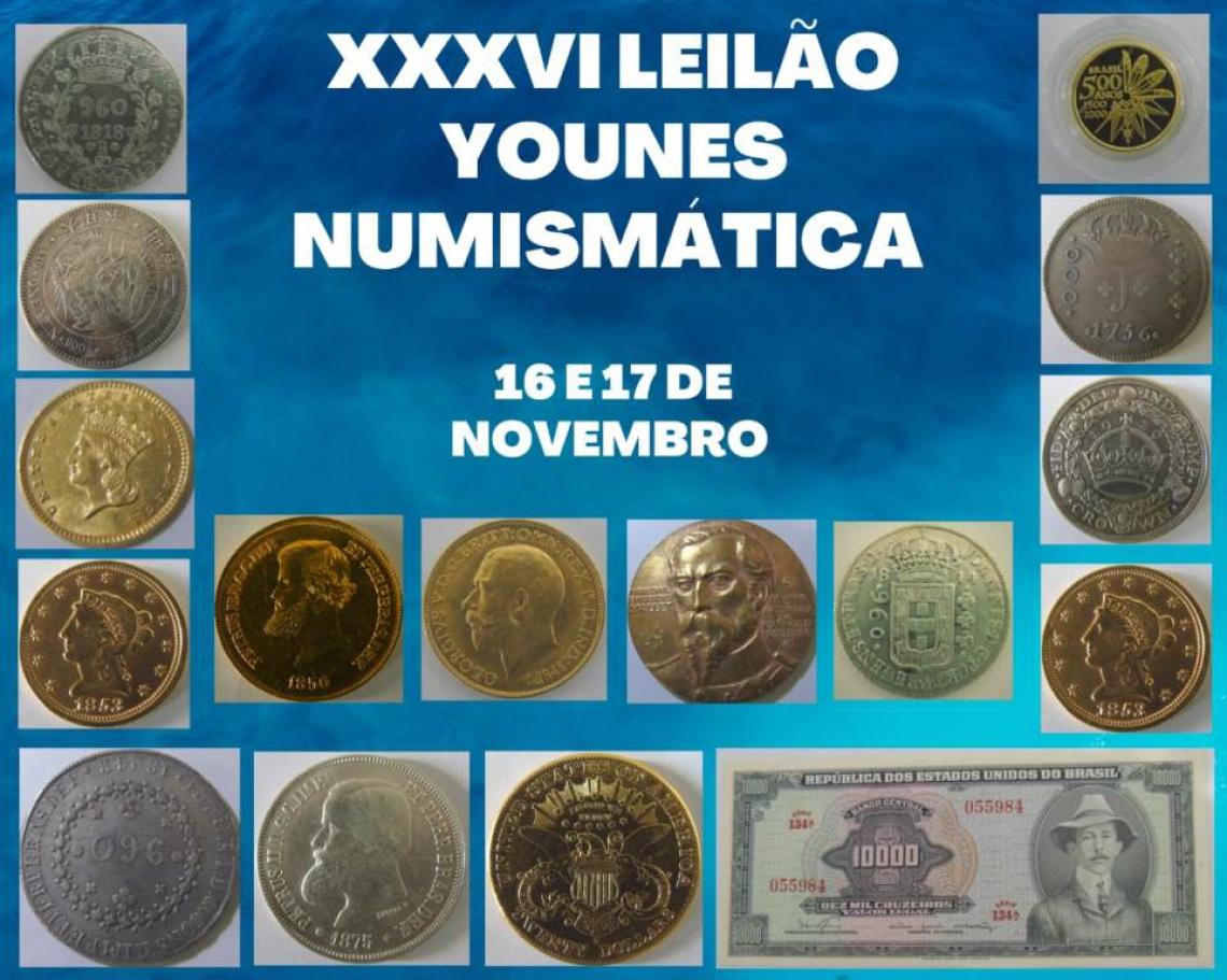 XXXVI LEILÃO YOUNES NUMISMÁTICA.