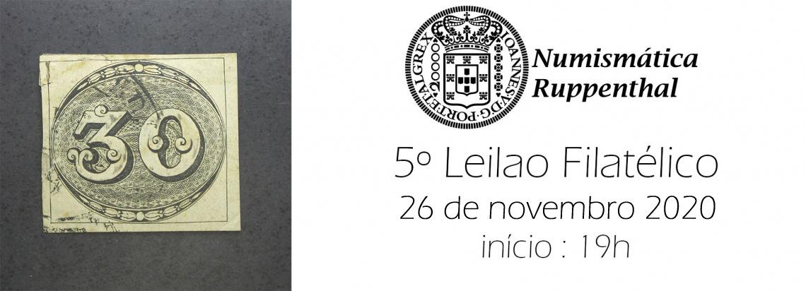 5º Leilão de SELOS -  Numismática Ruppenthal