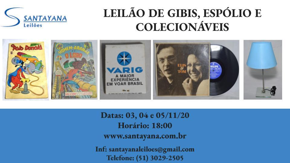 LEILÃO DE GIBIS, ESPÓLIO E COLECIONÁVEIS