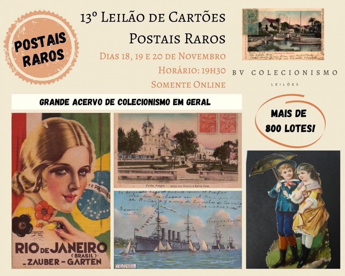 13º LEILÃO DE CARTÕES POSTAIS RAROS E COLECIONISMO
