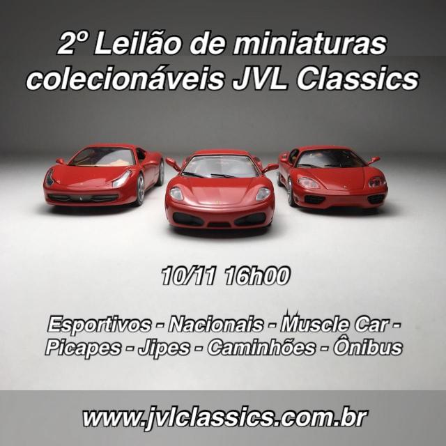 2º Leilão de miniaturas de carro colecionaveis JVL Classics