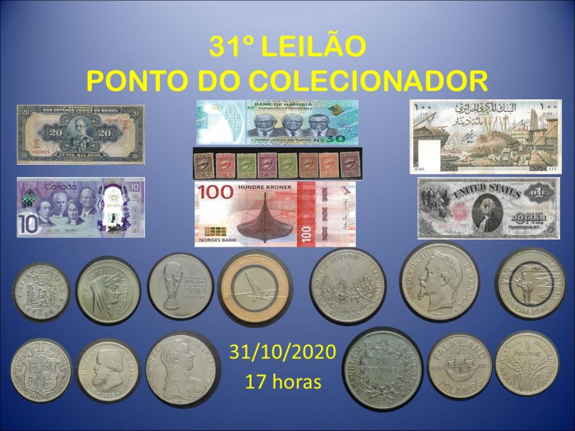 31º LEILÃO PONTO DO COLECIONADOR