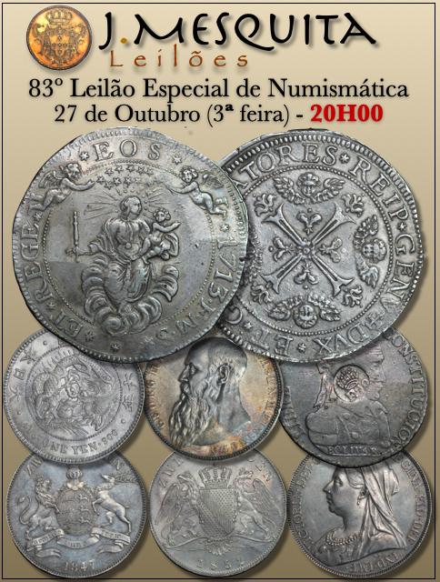 83º LEILÃO ESPECIAL J.MESQUITA  - COLEÇÃO MOEDAS ESTRANGEIRAS E NACIONAIS