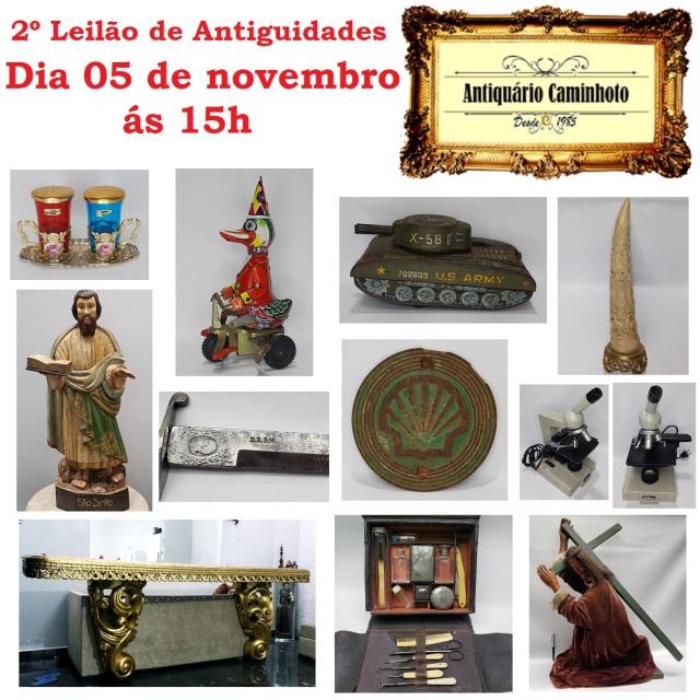 2º LEILÃO ANTIQUÁRIO CAMINHOTO