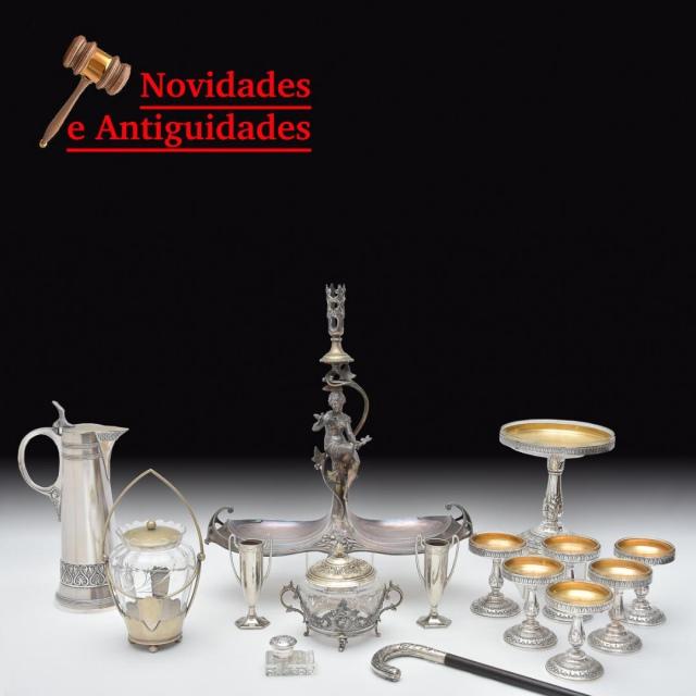 LEILAO NOVIDADES E ANTIGUIDADES -  DESTAQUE PARA PEÇAS WMF, JÓIAS ANTIGAS, MOBILIÁRIO, COLECIONISMO