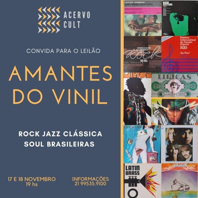 GRANDE LEILÃO PARA AMANTES DO VINIL. ROCK - SOUL - JAZZ - BRASILEIRAS - CLÁSSICAS