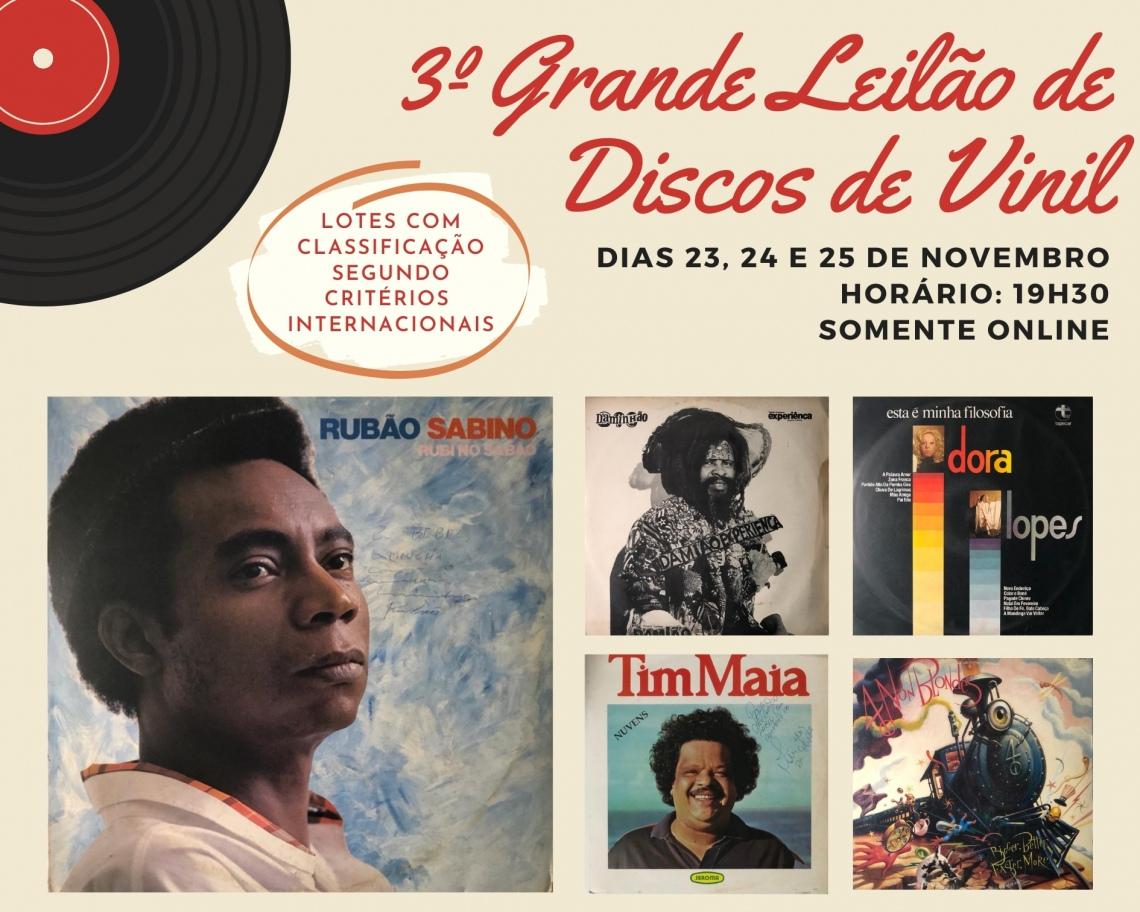 3º GRANDE LEILÃO DE DISCOS DE VINIL