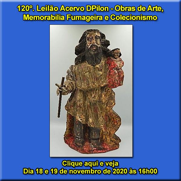 120º Leilão Acervo DPilon - Obras de Arte,  Memorabilia Fumageira e Colecionismo.