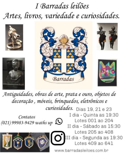 I Barradas Leilões - Artes, Livros, variedade e curiosidades