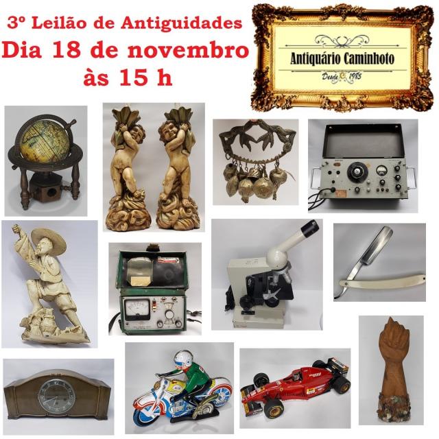 3º LEILÃO ANTIQUÁRIO CAMINHOTO
