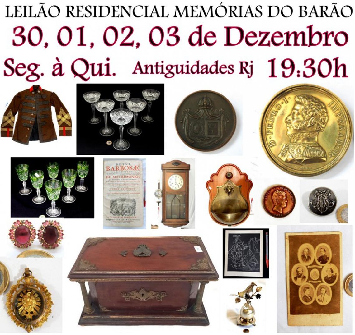 2º LEILÃO RESIDENCIAL MEMÓRIAS DO BARÃO ANTIGUIDADES RJ