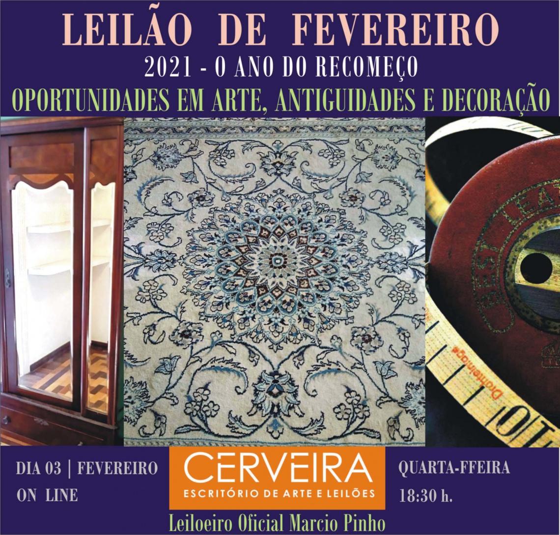 LEILÃO DE FEVEREIRO |17672 | 2021|  OPORTUNIDADES EM ARTE, ANTIGUIDADES E DECORAÇÃO