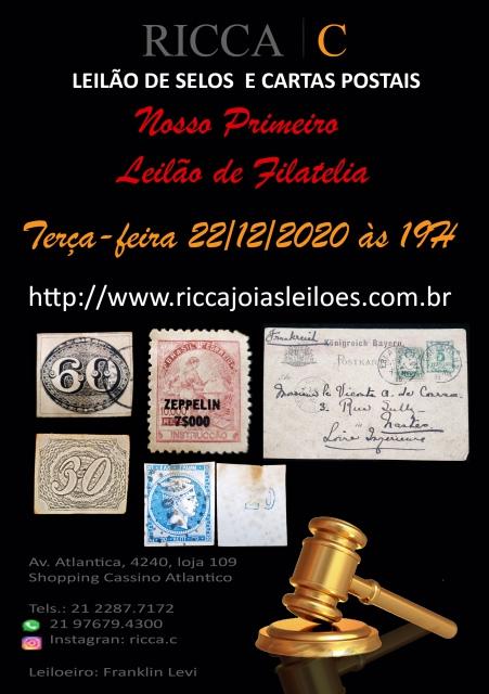 LEILÃO DE SELOS E CARTAS POSTAIS