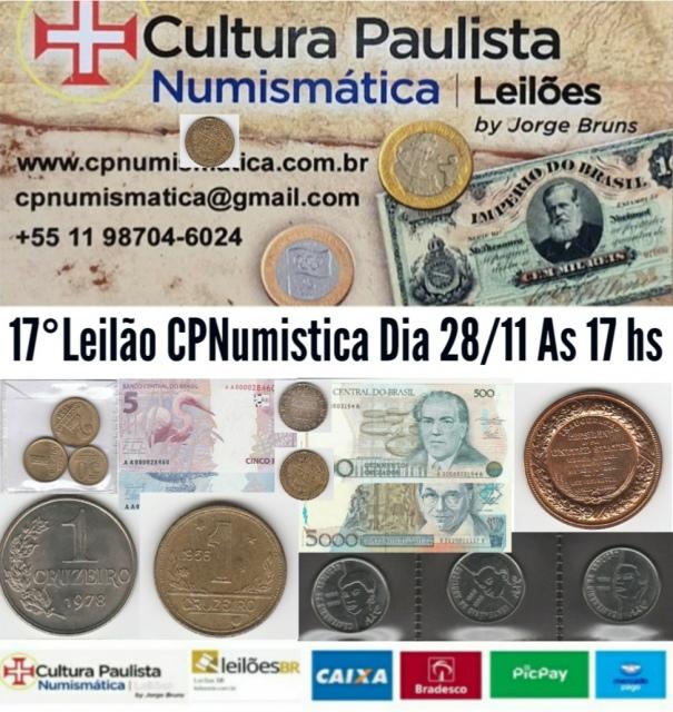 17º LEILÃO CULTURA PAULISTA NUMISMÁTICA