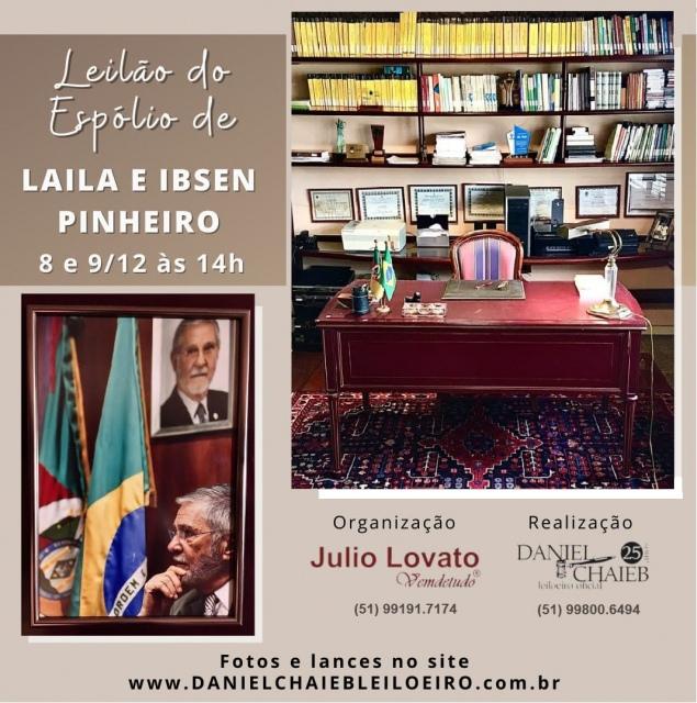 LEILÃO DO ESPÓLIO DE LAILA E IBSEN PINHEIRO