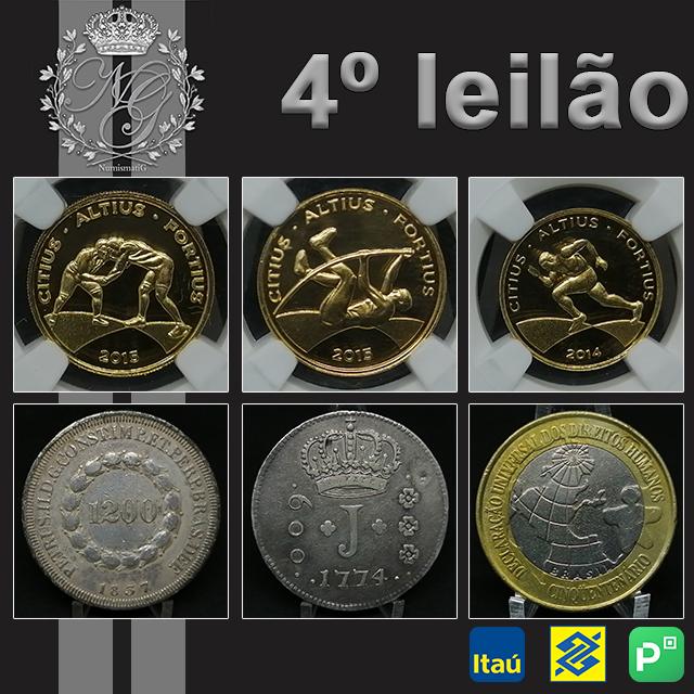 4º LEILÃO DE NUMISMÁTICA - NUMISMATIG LEILÕES